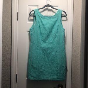 Seafoam Seersucker Harper Dress